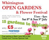 Tune in to 'Flower Power' in Whittington - Open Gardens Event 8th/9th July